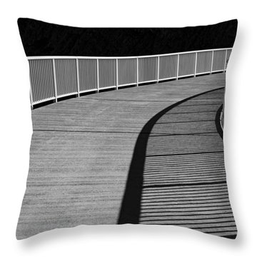 Throw Pillow featuring the photograph Walkway by Chevy Fleet
