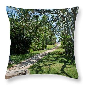 Walkway In Bermuda Throw Pillow