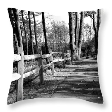 Throw Pillow featuring the photograph Walkway by Rick Morgan