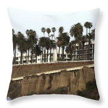 Walkway To Beach Throw Pillow