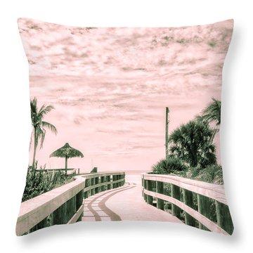 Walkway To The Beach Throw Pillow