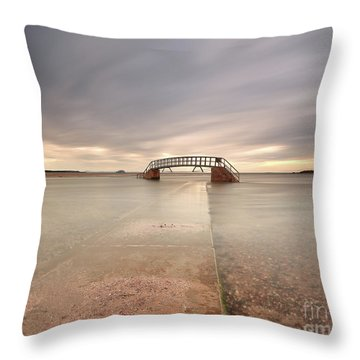 Walkway To The Stairs Throw Pillow