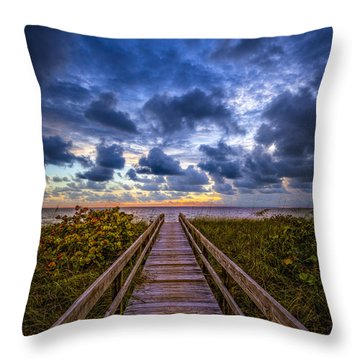 Walkway To Tomorrow. Throw Pillow