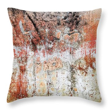 Wall Abstract  183 Throw Pillow by Maria Huntley