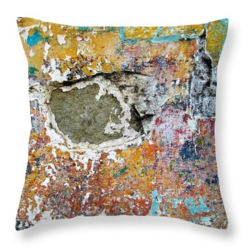 Wall Abstract 196 Throw Pillow by Maria Huntley