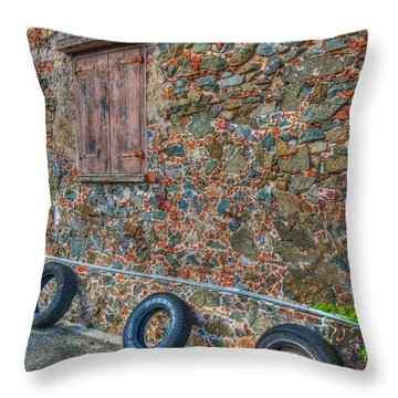 Wall Abstract Throw Pillow by James Hammond