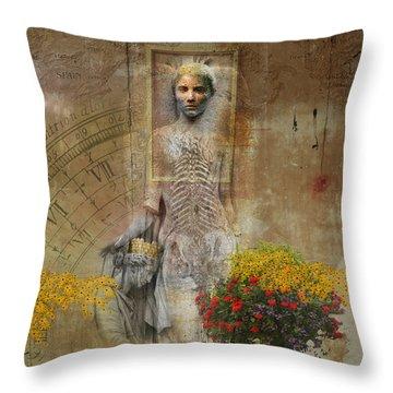Wall Angel Throw Pillow