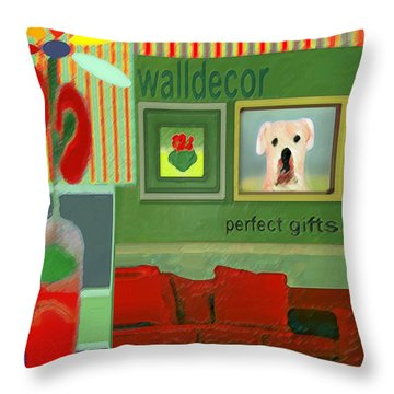 Wall Decor Painting   Throw Pillow