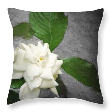 Wall Flower Throw Pillow by Carolyn Marshall