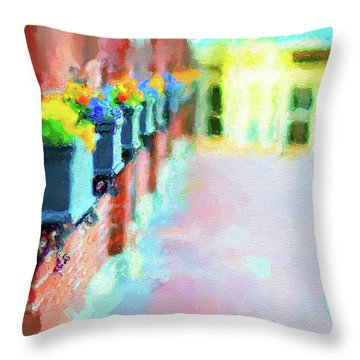 Wall Flower On The Mills In Amesbury Ma Throw Pillow