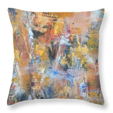 Wall Memories Throw Pillow by Becky Chappell