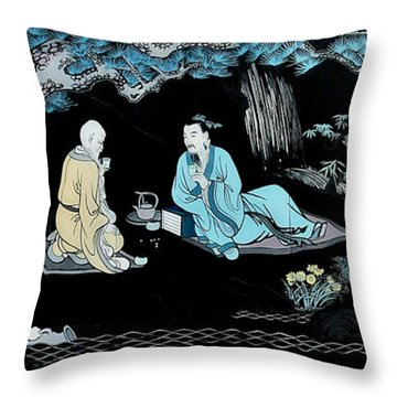 Wall Mural In Qibao - Shanghai - China Throw Pillow by Christine Till