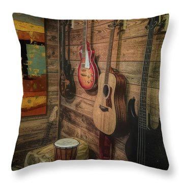 Wall Of Art And Sound Throw Pillow