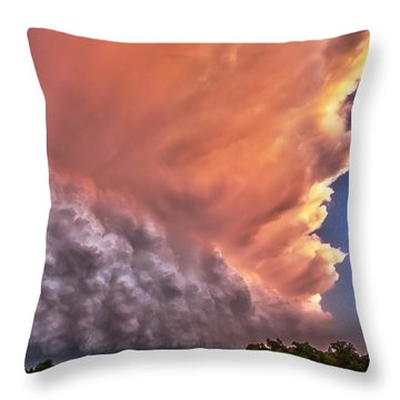 Wall Of Boiling Clouds Throw Pillow