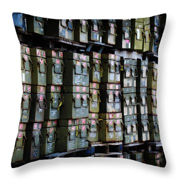 Wall Of Containment Throw Pillow