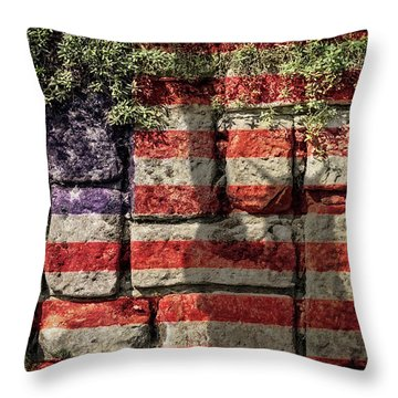 Wall Of Liberty Throw Pillow