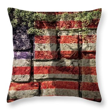 Wall Of Liberty Throw Pillow by Wim Lanclus