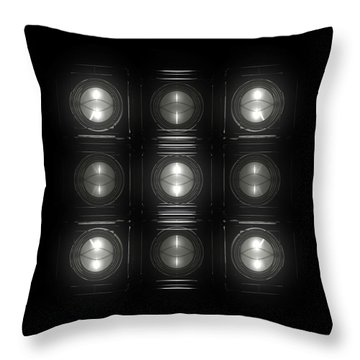 Wall Of Roundels 3x3 Throw Pillow