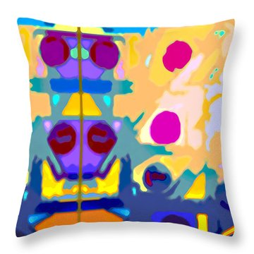 Wall Paper Throw Pillow