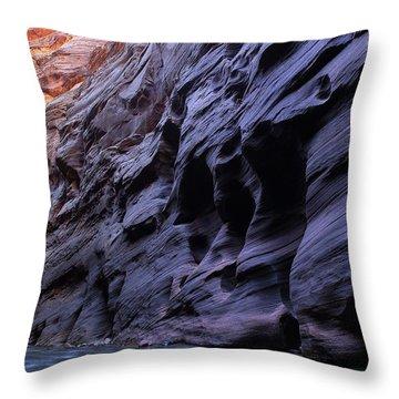 Wall Street At The Narrows At Zion National Park Throw Pillow