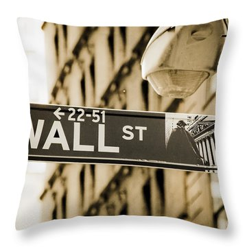 Throw Pillow featuring the photograph Wall Street by Juergen Held