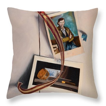 Throw Pillow featuring the painting Wall Study by Break The Silhouette
