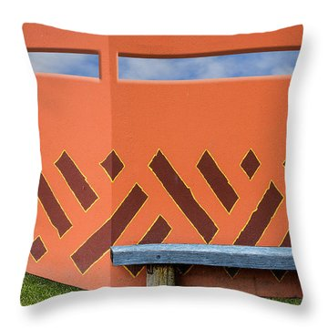Throw Pillow featuring the photograph Wall With A View by Paul Wear