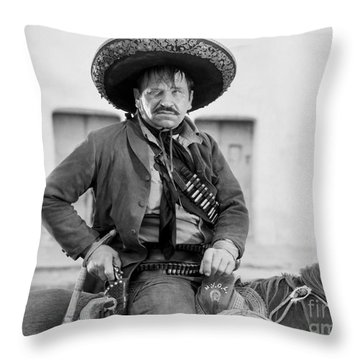 Wallace Beery (1885-1949) Throw Pillow by Granger