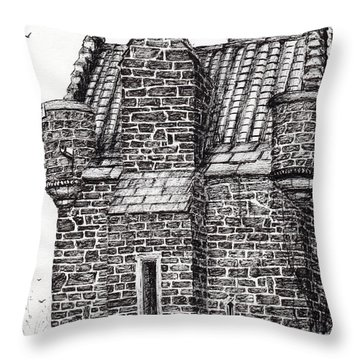 Wallace Monument  The Small House Throw Pillow
