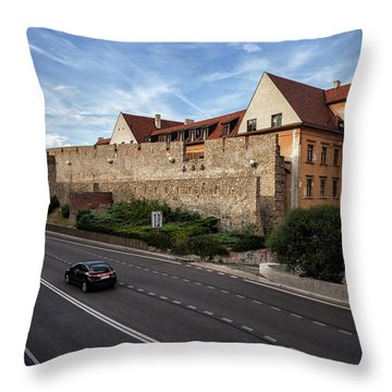 Walled Old Town Of Bratislava Throw Pillow