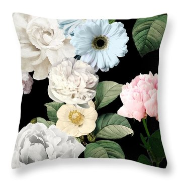 Wallflowers Throw Pillow by Mindy Sommers