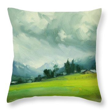 Wallowa Valley Storm Throw Pillow