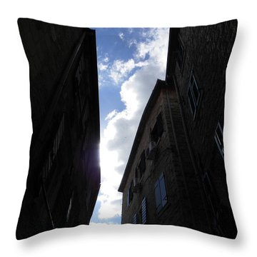 Walls And Skies Throw Pillow