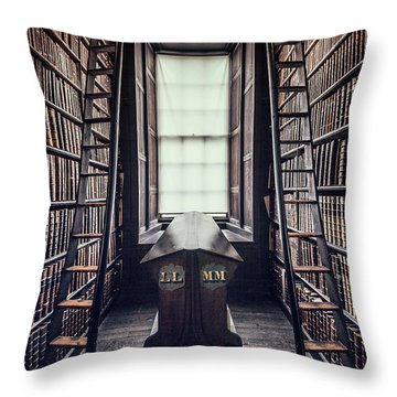 Walls Of Books Throw Pillow