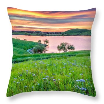 Throw Pillow featuring the photograph Wally Baskets Above Contra Loma  by Marc Crumpler