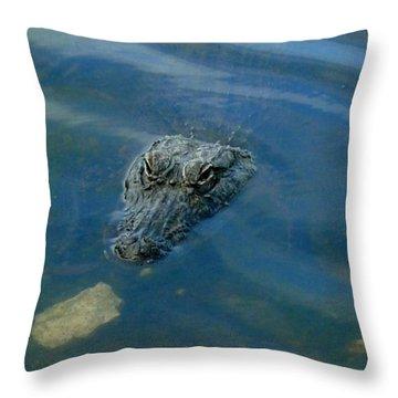 Wally The Gator Throw Pillow
