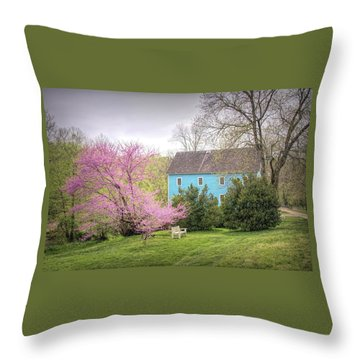 Walnford In Spring Throw Pillow