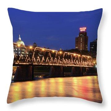 Walnut Street Bridge Throw Pillow