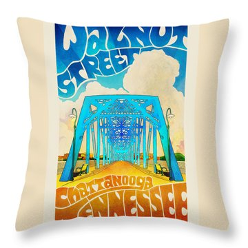 Walnut Street Poster Throw Pillow