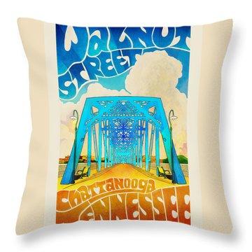 Walnut Street Poster Throw Pillow