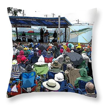Walnut Valley Festival Throw Pillow