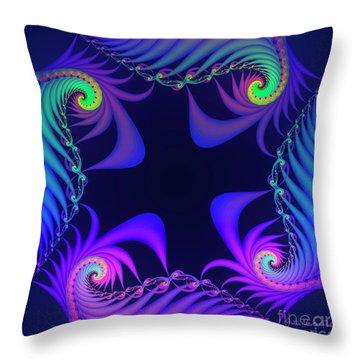 Throw Pillow featuring the digital art Walpurgis Night by Jutta Maria Pusl