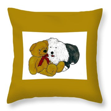 Walt And Ted Throw Pillow