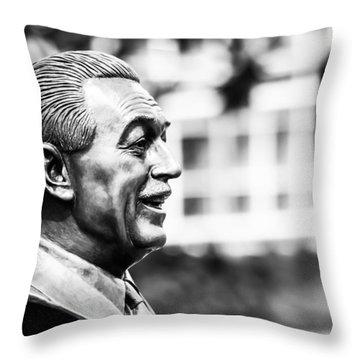 Walt - Bw Throw Pillow