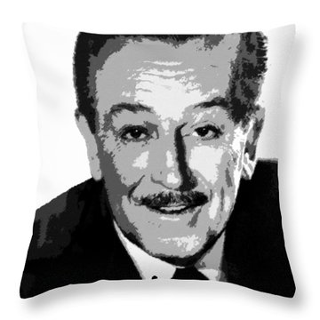 Walt Throw Pillow by David Lee Thompson