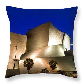 Walt Disney Concert Hall Throw Pillow by Wernher Krutein