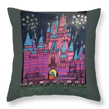 Walt Disney World Cinderrela Castle Throw Pillow