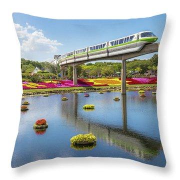Walt Disney World Epcot Flower Festival Throw Pillow