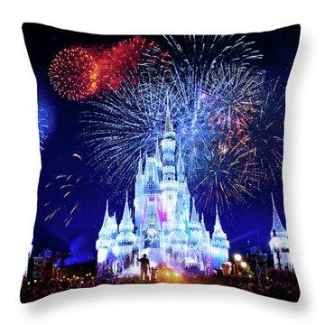 Walt Disney World Fireworks  Throw Pillow