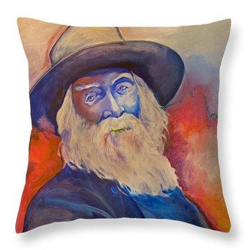 Walt Whitman Throw Pillow by Robert Lacy
